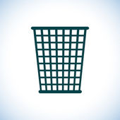 Trash bin icon — Stock Photo