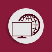 Internet ikona — Zdjęcie stockowe