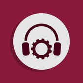 ícone de fones de ouvido — Fotografia Stock