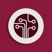Circuit board icon — Stock Photo