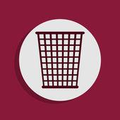 Trash bin icon — Stock Photo