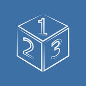 Cube with numbers — Foto de Stock