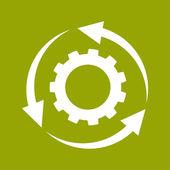 Circular arrows icon — Stock Photo