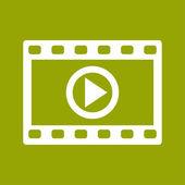Video frame icon — Stockfoto