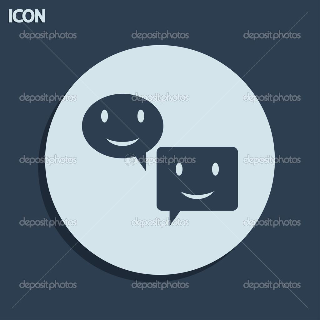 微笑说话气泡图标