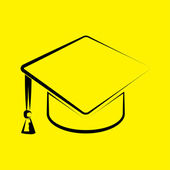 Graduation cap icon — Foto de Stock