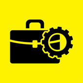 Setting parameters, Briefcase icon — Stock Photo