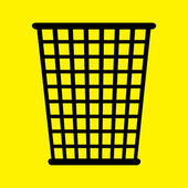 Icona cestino cestino — Foto Stock