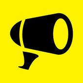 Megaphone icon — Stock Photo