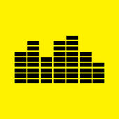 Musical equalizer icon — Stock Photo