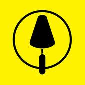 Trowel icon — Stock Photo