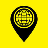 Karte zeigersymbol — Stockfoto