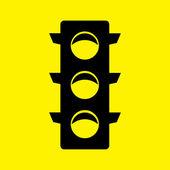 Road semaphore icon — Stock Photo