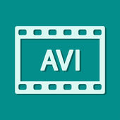 AVI video icon — Stock Photo