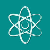 Abstract physics science model icon — Stock Photo