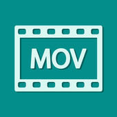 MOV video icon — Stock Photo