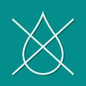 Water drop forbidden icon — Stock Photo