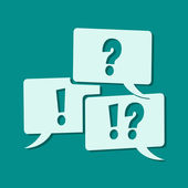 Question and exclamation mark — Stock Photo