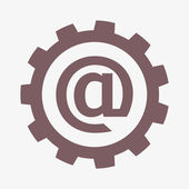 Setting parameters, e-mail internet icon — Stock Photo