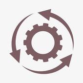 Setting parameters, circular arrows icon — Stock Photo