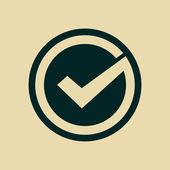 Tick icon — Stock Photo