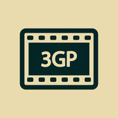 3gp video icon — Stock Photo