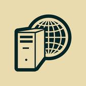 ícone de servidor de computador — Fotografia Stock