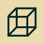 Cube icon — Stock Photo