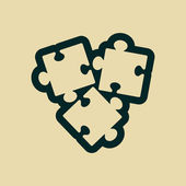 Puzzles piece icon — Stockfoto