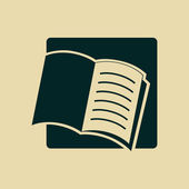 Open book icon — Stock Photo