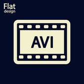 AVI video icon — Stock Photo