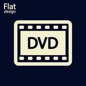 DVD video icon — Stock Photo