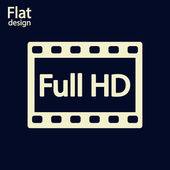 Full HD video icon — Fotografia Stock