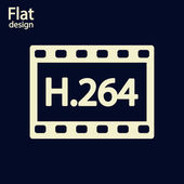 H.264 video icon — Stock Photo