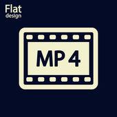 MP 4 video icon — Stock Photo