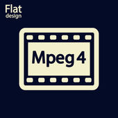 значок видео mpeg 4 — Стоковое фото