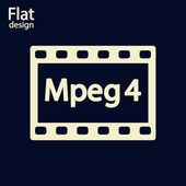 MPEG 4 video icon — Stock Photo