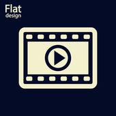 Ikona videa — Stock fotografie