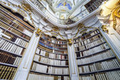 Great biggest library in old abbey — Zdjęcie stockowe