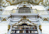 Great biggest library in old abbey — Stock Photo