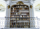 Great biggest library in old abbey — Stok fotoğraf