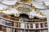 Great biggest library in old abbey — Foto Stock