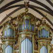 Beautiful old organ decorated by gold — Stock Photo #48993941