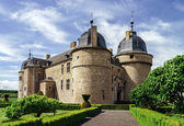Renovated medieval castle — Stock Photo