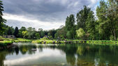 Calm lake lanscape — Stock Photo