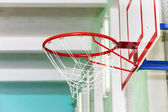 Closeup of basketball hoop — Stock Photo