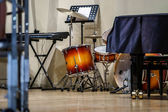 Drumkit and other jazz instruments — Stock Photo