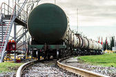 Train with oil tanks — Stock Photo