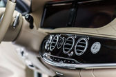 Luxury car interior details — Stock Photo