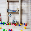 Nursery with colorful toys and balls — Stock Photo #49566141